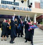 Asiatische Studenten im Aufbaustudium Lizenzfreies Stockbild