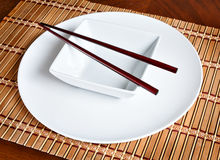 Asiatische Tabelleneinstellung Stockbild