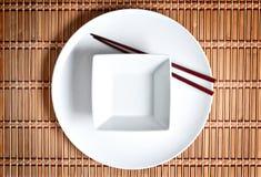Asiatische Tabelleneinstellung Stockfotografie