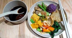 Asiatische vegetarische Nahrung stockfotos
