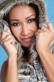 Asiatische Winter-Frau Lizenzfreie Stockbilder