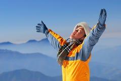 Asiatischer Bergsteiger. Lizenzfreie Stockbilder