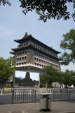 Asiatischer Chinese, Peking, alte Architektur, Zhengyang Jianlou Lizenzfreies Stockbild