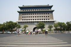 Asiatischer Chinese, Peking, alte Architektur, Zhengyang Jianlou Stockfotografie