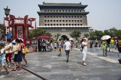Asiatischer Chinese, Peking, alte Architektur, Zhengyang Jianlou Stockbilder