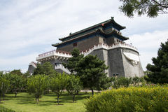 Asiatischer Chinese, Peking, alte Architektur, Zhengyang Jianlou Lizenzfreies Stockfoto