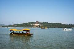 Asiatischer Chinese, Peking, der Sommer-Palast, Kunming See, Weihrauch, Kreuzfahrt Stockbilder