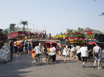 Asiatischer Chinese, Peking, Shichahai, yin Klingeln Brücke Lizenzfreies Stockbild