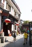 Asiatischer Chinese, Peking, Yandaixiejie, eine Einkaufsstraße im alten Lizenzfreie Stockfotografie