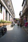 Asiatischer Chinese, Peking, Yandaixiejie, eine Einkaufsstraße im alten Stockfotos