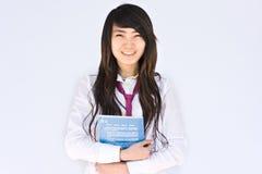 Asiatischer famale Kursteilnehmer Lizenzfreie Stockbilder