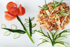 Asiatischer Fischsalat Stockfotografie
