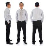 Asiatischer Geschäftsmann im unterschiedlichen Winkel Lizenzfreies Stockfoto