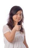 Asiatischer Jugendlicher im Weiß Stockfotos