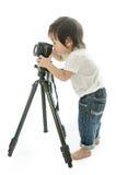 Asiatischer Junge des Babys mit cameera stockbilder