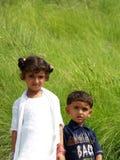 Asiatischer Junge und Mädchen Lizenzfreies Stockfoto