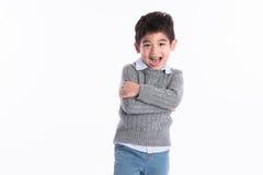 Asiatischer Junge - verschiedene Bilder der Isolierung Lizenzfreie Stockfotos