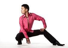 Asiatischer junger Mann in der stilvollen Kleidung Lizenzfreies Stockfoto