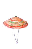 Asiatischer konischer Hut mit schwarzer Gleichheit Stockfoto