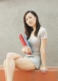 Asiatischer Kursteilnehmer Stockfoto