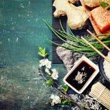 Asiatischer Lebensmittelhintergrund lizenzfreies stockfoto