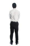 Asiatischer Mann der hinteren Ansicht in voller Länge Lizenzfreies Stockfoto