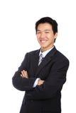 Asiatischer Mann des jungen Geschäfts getrennt lizenzfreie stockbilder