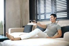 Asiatischer Mann-Lebensstil Lizenzfreie Stockfotos