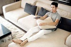 Asiatischer Mann-Lebensstil Stockbilder