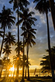 Asiatischer Sonnenaufgang-Erholungsort lizenzfreie stockfotografie