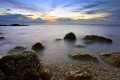 Asiatischer Sonnenuntergang stockfotos