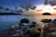 Asiatischer Sonnenuntergang lizenzfreie stockfotografie