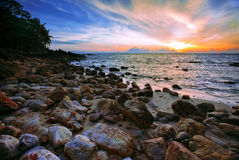 Asiatischer Sonnenuntergang Stockfotografie