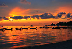 Asiatischer Sonnenuntergang Stockbilder