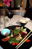 Asiatischer Steaksalat Stockbilder