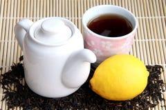 Asiatischer Tee und Zitrone Lizenzfreie Stockbilder
