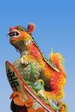 Asiatischer Tempellöwe Stockfotos