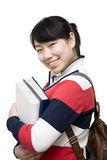 Asiatischer weiblicher Kursteilnehmer Lizenzfreie Stockfotografie
