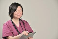 Asiatischer weiblicher medizinischer Fachmann stockfotografie