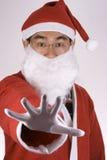 Asiatischer Weihnachtsmann, der Nr. sagt. Stockfotos
