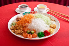 Asiatischer Wohlstands-Wurf, Lohei, Yusheng, yee sang Stockbild