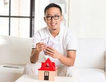 Asiatischer zufälliger Mann Lizenzfreie Stockbilder