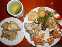 Asiatisches Abendessen Stockfoto