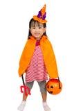 Asiatisches chinesisches kleines Mädchen feiern Halloween Lizenzfreie Stockfotografie