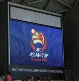 Asiatisches Cup-Fußballfußballspiel Lizenzfreie Stockfotografie