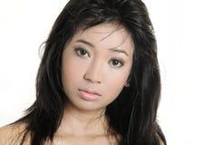 Asiatisches entzückendes Gesicht stockfoto