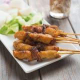 Asiatisches feinschmeckerisches Huhn sättigen Stockfoto