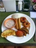 Asiatisches Frühstück - würziges Lebensmittel Lizenzfreie Stockfotografie