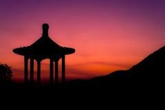 Asiatisches Gartenhaus Stockfoto