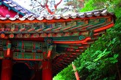 Asiatisches Gebäudedetail stockfoto